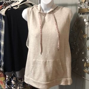 Forever 21 light gray sleeveless hoodie size small